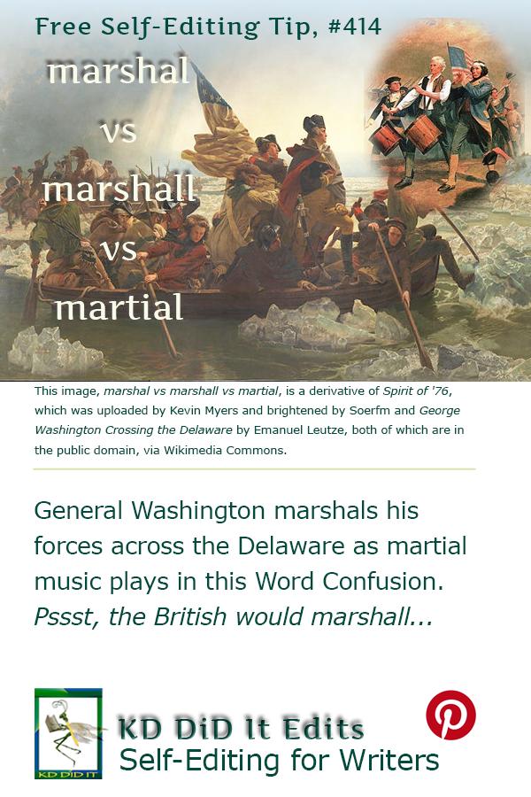 Pinterest pin for Marshal vs Marshall vs Martial