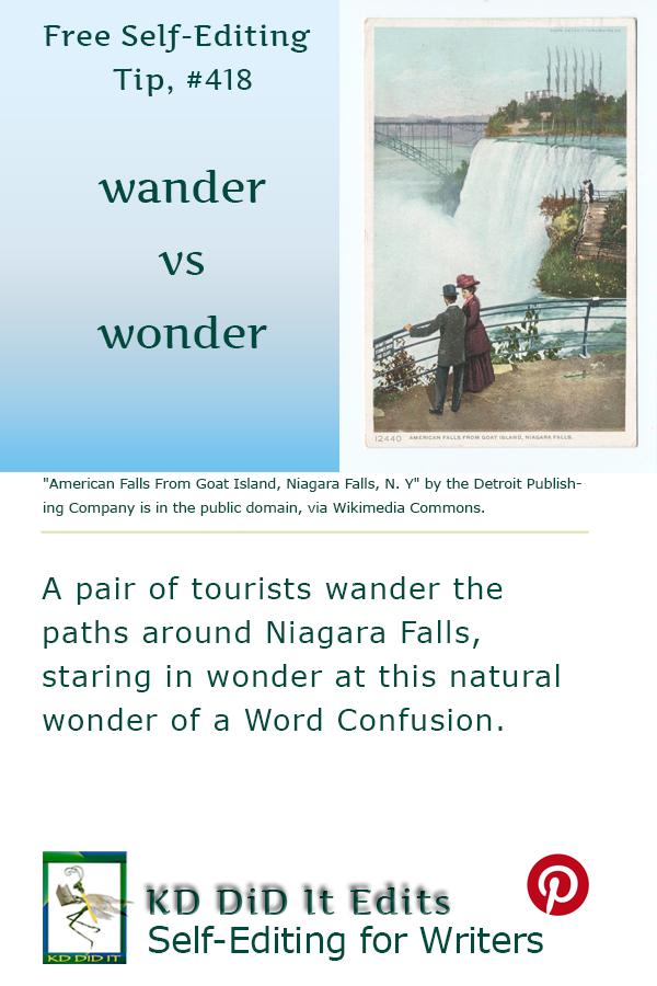 Pinterest pin for Wander versus Wonder
