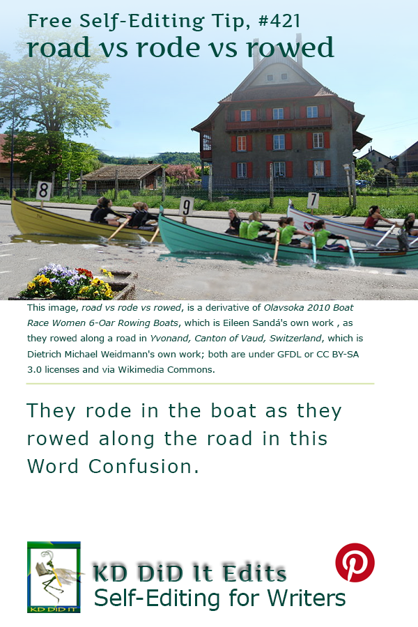 Word Confusion: Road vs Rode vs Rowed