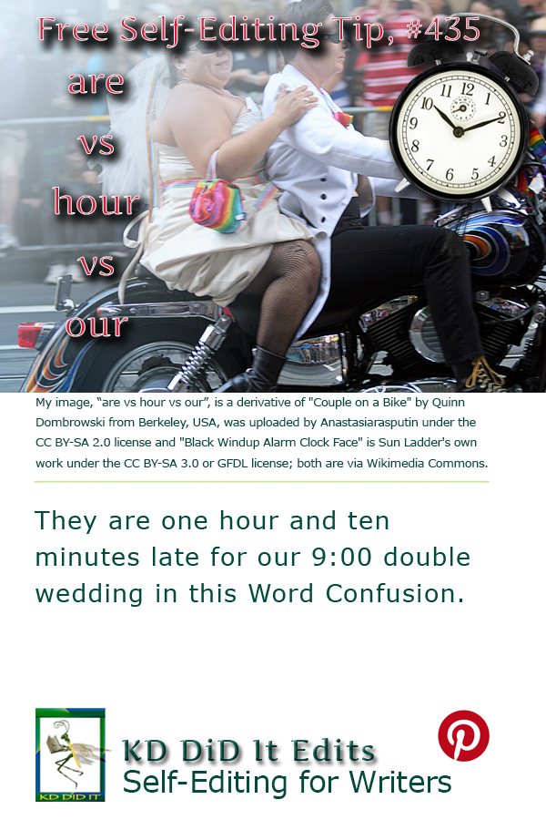 Pinterest pin for Are vs Hour vs Our