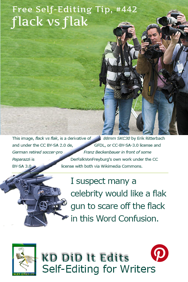 Word Confusion: Flack versus Flak