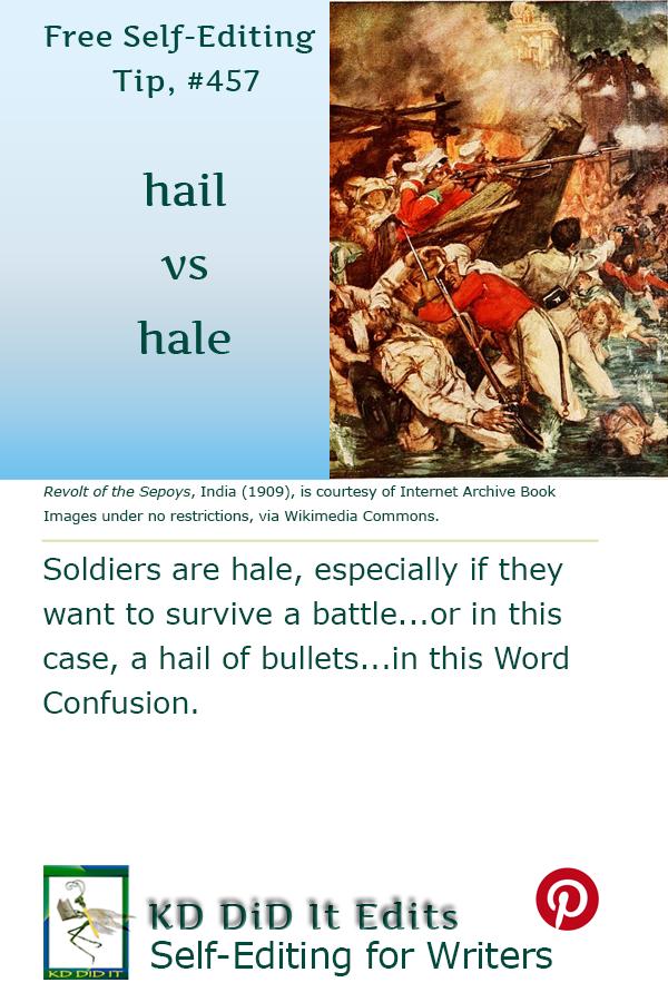 Pinterest pin for Hail versus Hale
