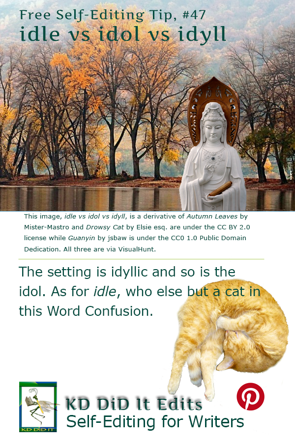 Pinterest pin for Idle vs Idol vs Idyll