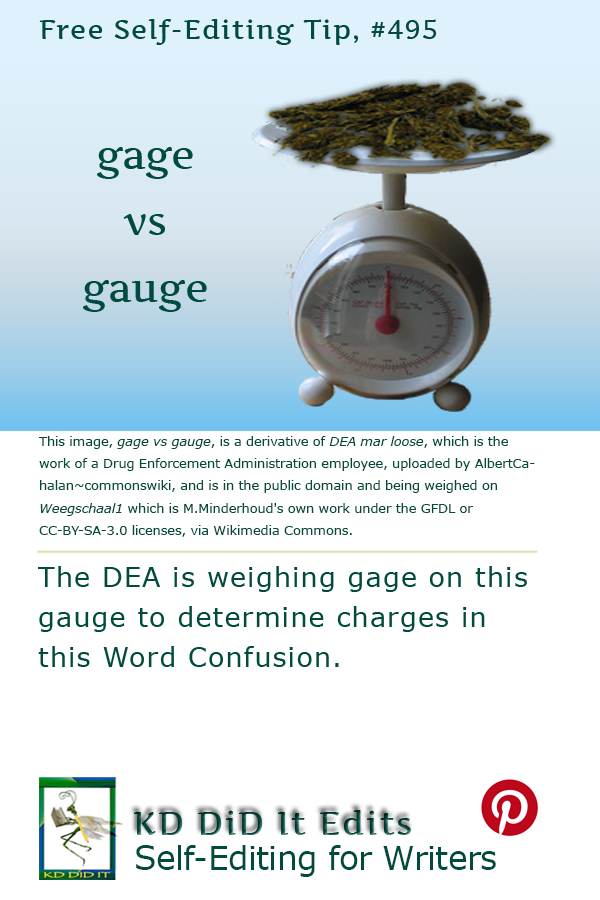 Pinterest pin for Gage versus Gauge