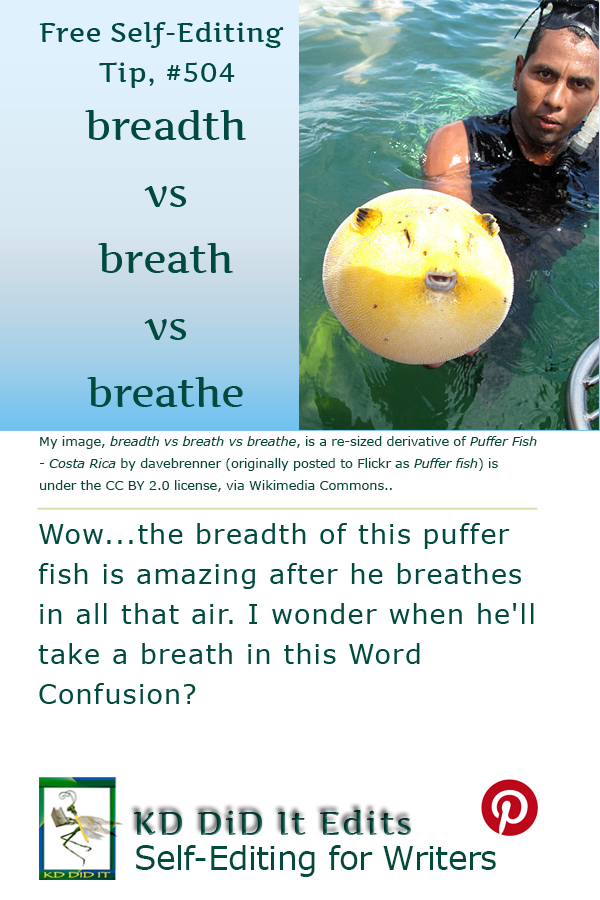 Pinterest pin for Breadth vs Breath vs Breathe