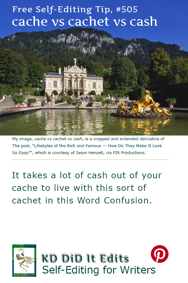 Word Confusion: Cache vs Cachet vs Cash