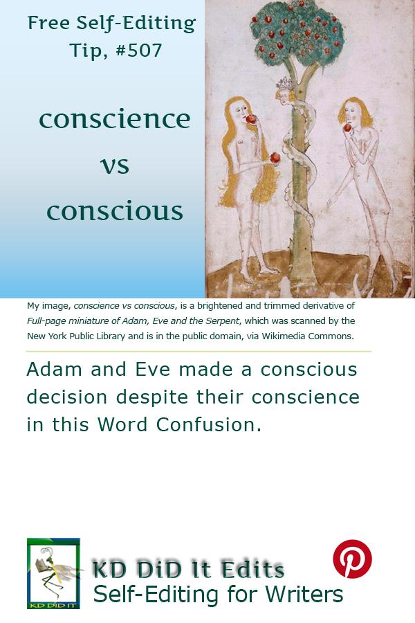 Pinterest pin for Conscience versus Conscious