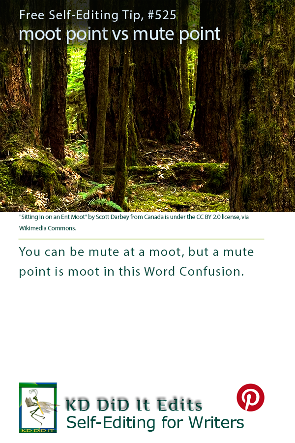 Pinterest pin for Moot Point versus Mute Point