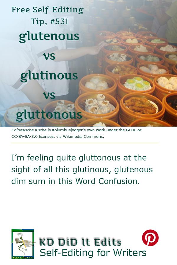Pinterest pin for Glutenous vs Glutinous vs Gluttonous