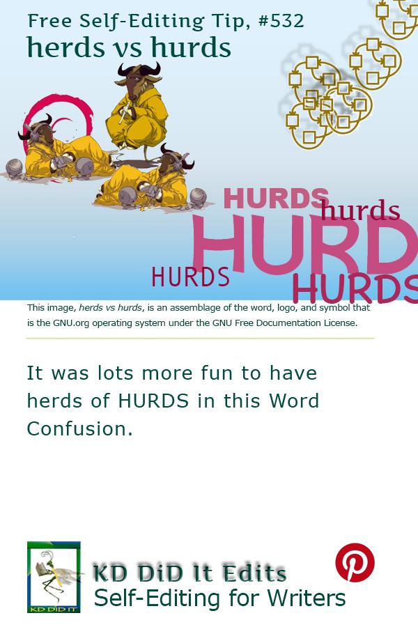 Pinterest pin for Herds versus Hurds