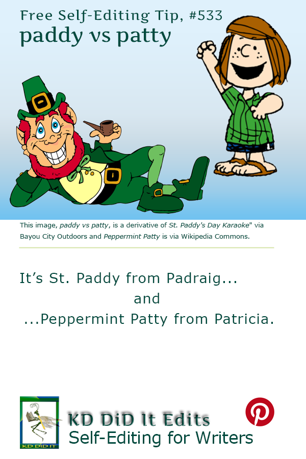 Pinterest pin for Paddy versus Patty
