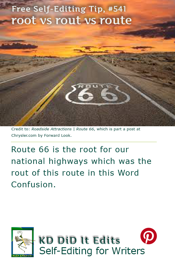 Pinterest pin for Root vs Rout vs Route