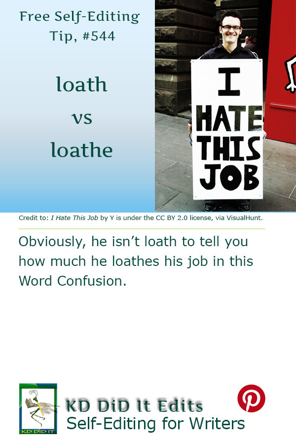 Pinterest pin for Loath versus Loathe
