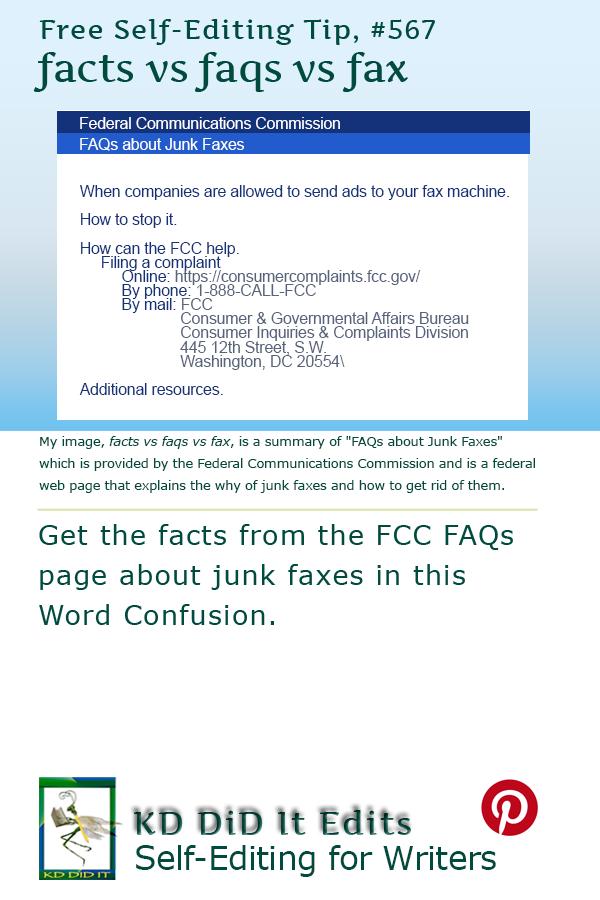 word confusion facts vs faqs vs fax kd did it edits