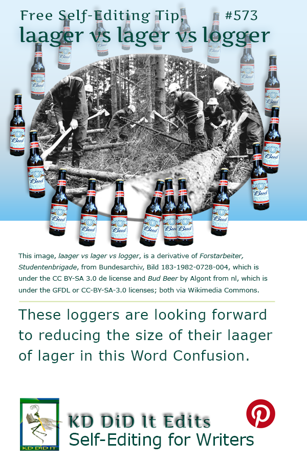 Pinterest pin for Laager vs Lager vs Logger
