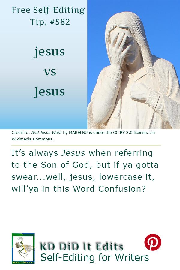 Word Confusion: jesus versus Jesus