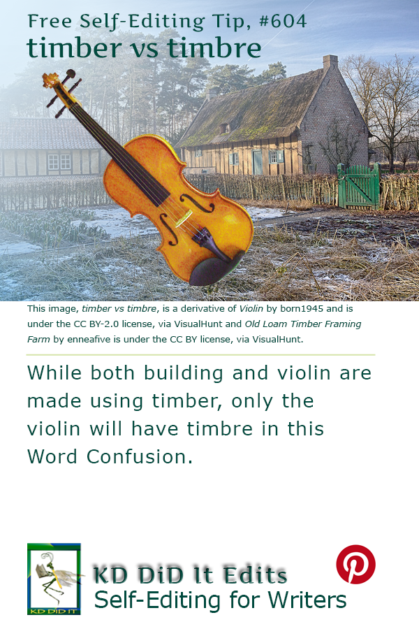 Word Confusion: Timber versus Timbre