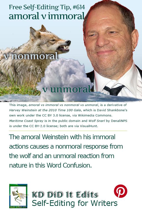 Word Confusion: Amoral vs Immoral vs Nonmoral vs Unmoral
