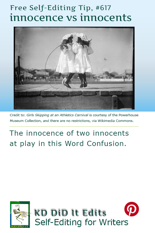 Pinterest pin for Innocence versus Innocents
