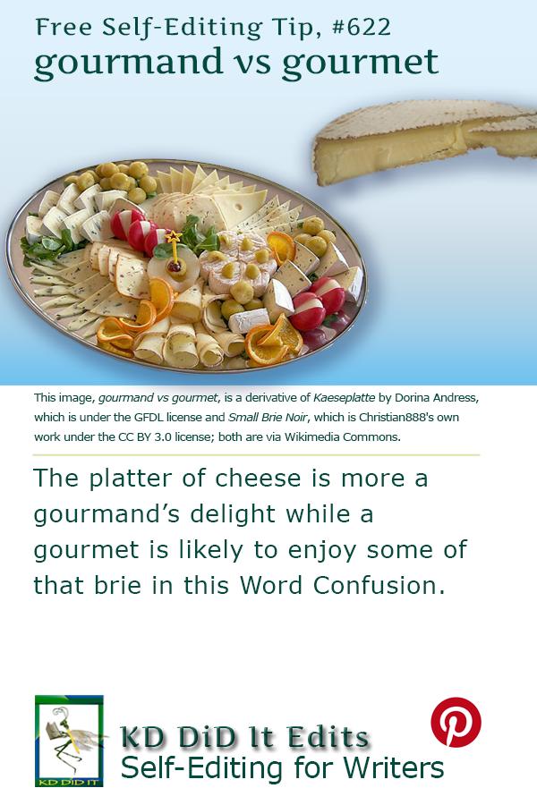 Pinterest pin for Gourmand versus Gourmet