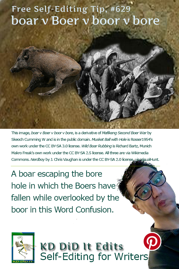 Word Confusion: Boar vs Boer vs Boor vs Bore