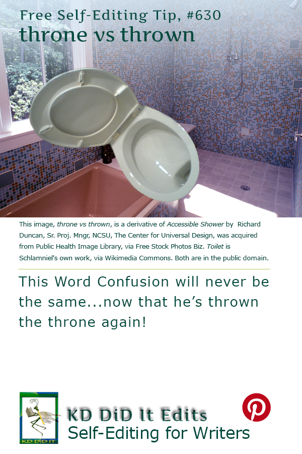 Word Confusion: Throne versus Thrown