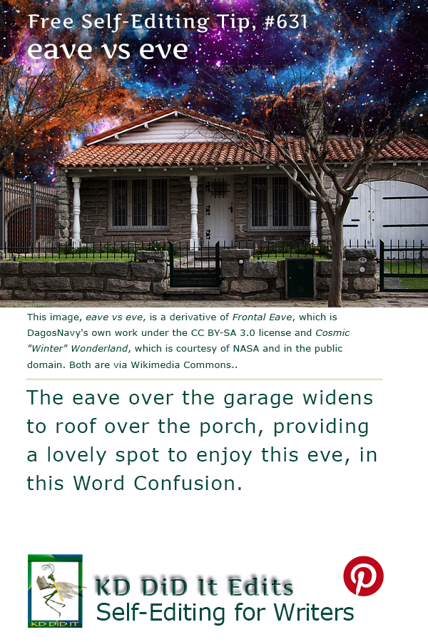 Word Confusion: Eave versus Eve