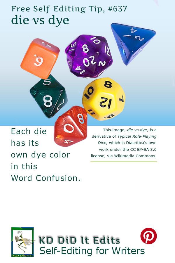 Word Confusion: Die versus Dye
