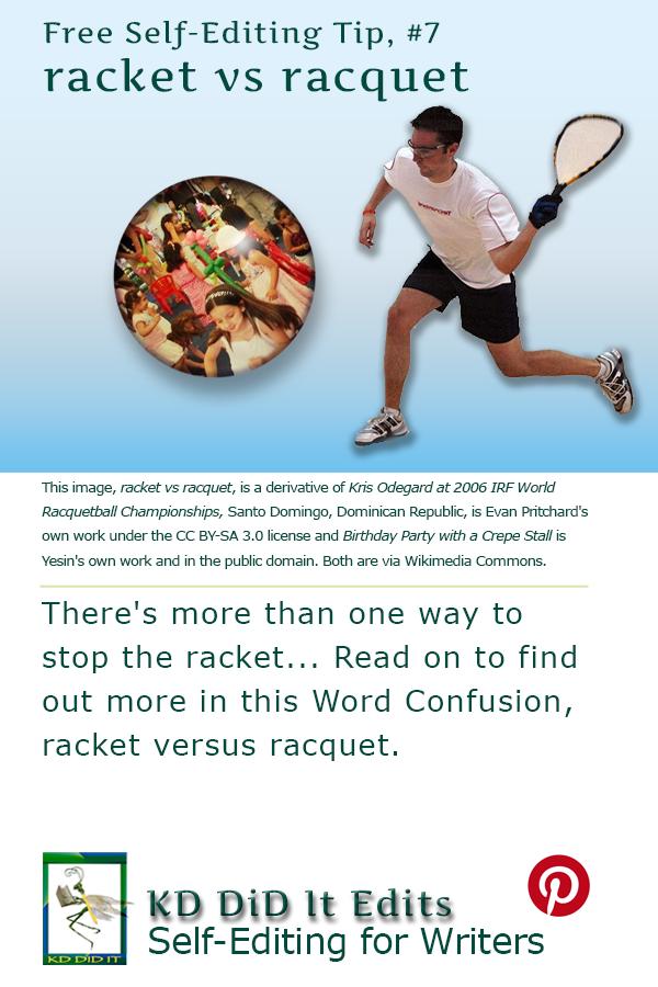 Pinterest pin for Racket versus Racquet