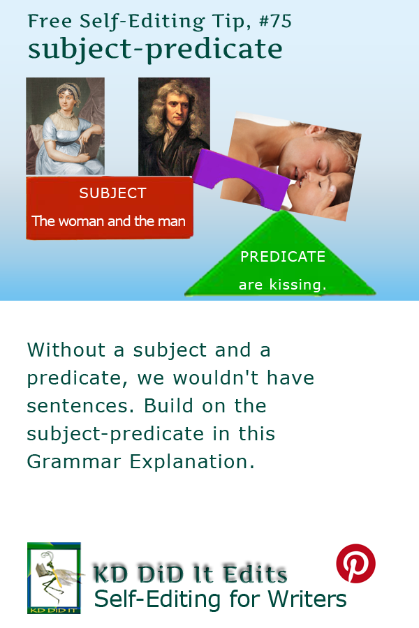 Pinterest pin for Subject-Predicate