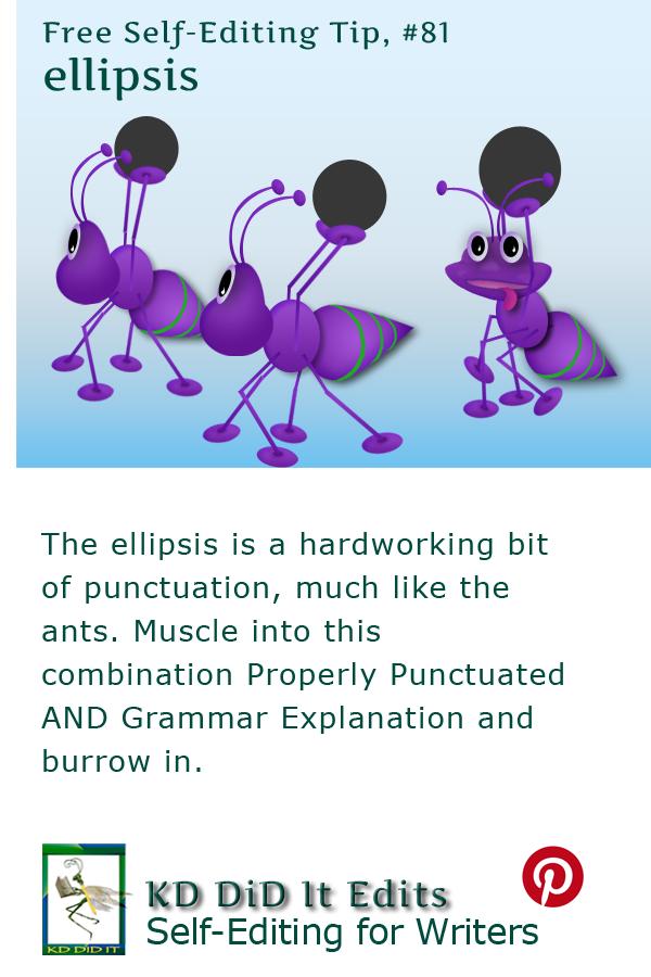 Pinterest pin for Grammar & Punctuation Ellipsis