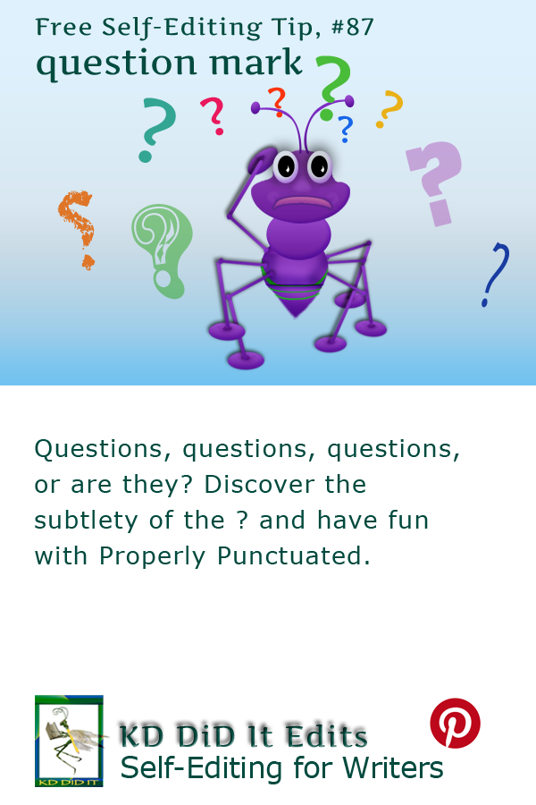 Pinterest pin for Question Mark