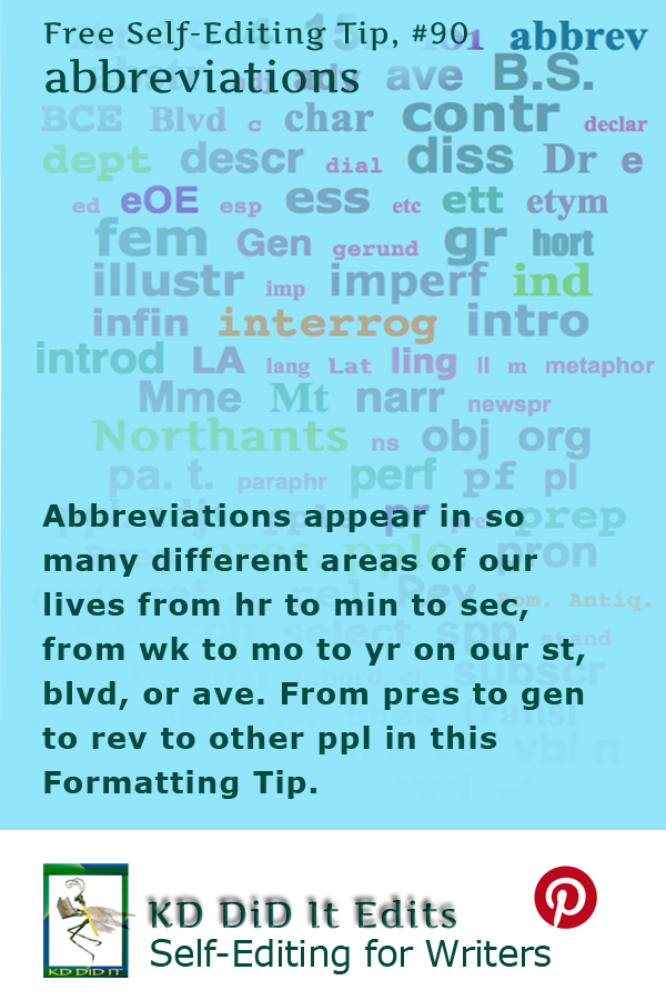 Pinterest pin for Abbreviations