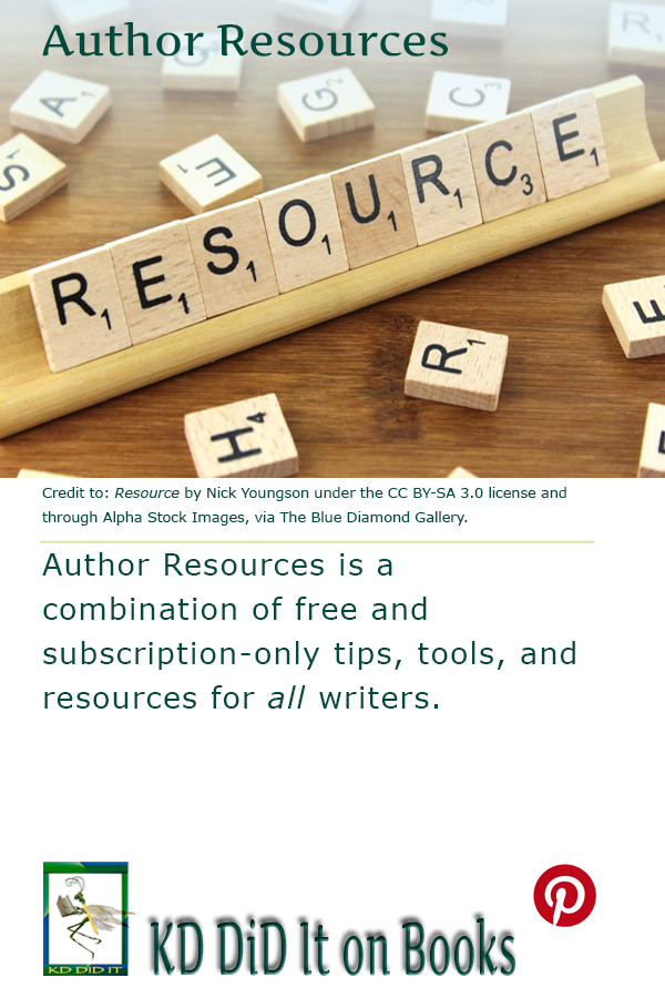 Pinterest pin for Author Resources
