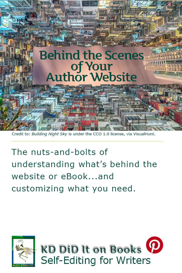 Pinterest pin for Behind the Scenes of Your Author Website