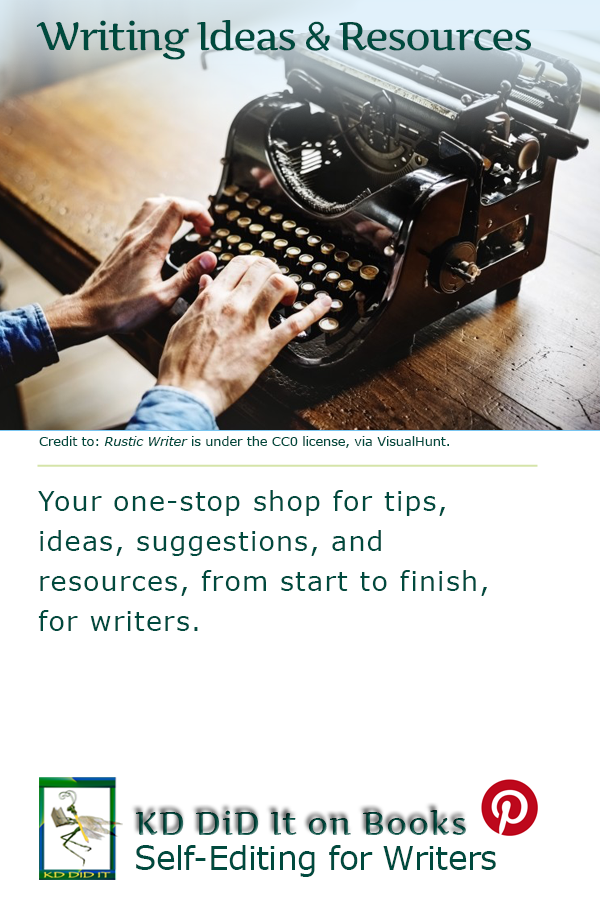 Pinterest pin for Writing Ideas and Resources
