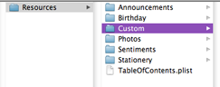 Shows a general idea of what your directory looks like with a custom folder and its location