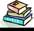 Cartoon-like pile of three books